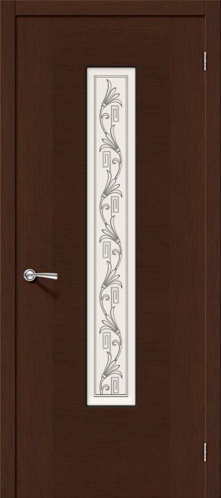 межкомнатная дверь шпонированная рондо венге со стеклом